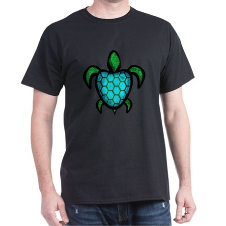 Blue Shell Turtle Dark T-Shirt