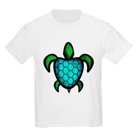 Blue Shell Turtle Kids Light T-Shirt