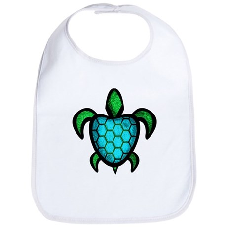 Blue Shell Turtle Bib