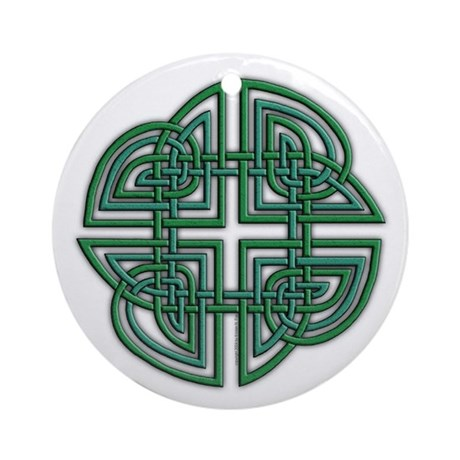 Celtic Four Leaf Clover Ornament (Round)