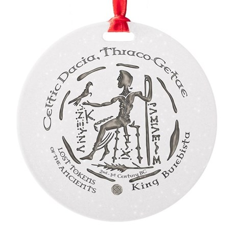 Celtic King Coin Round Ornament