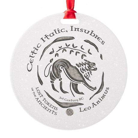 Celtic Lion Coin Round Ornament