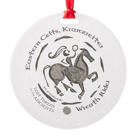 Celtic Wreath Rider Coin Round Ornament