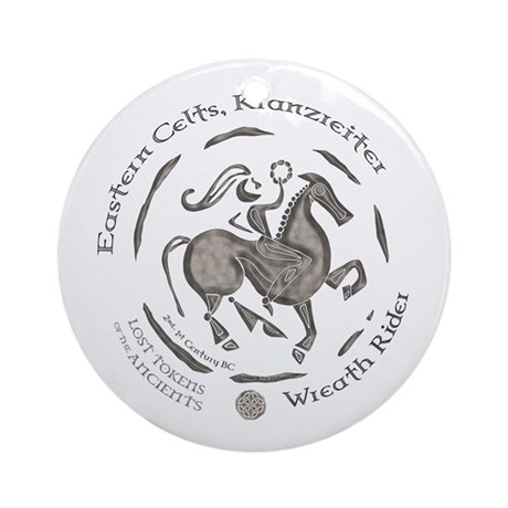 Celtic Wreath Rider Coin Ornament (Round)
