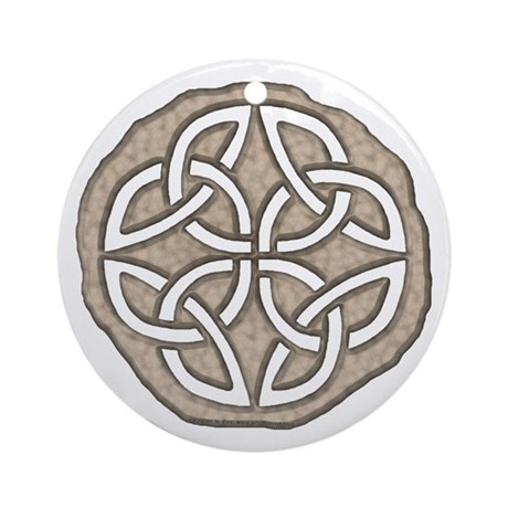 Celtic Knotwork Coin Ornament (Round)