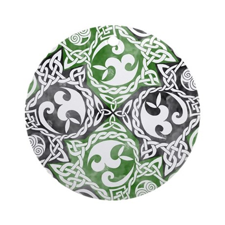 Celtic Knotwork Puzzle Square Ornament (Round)