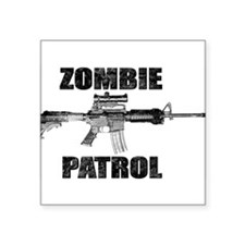 "ZOMBIE PATROL Square Sticker 3"" x 3"""