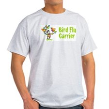 Bird Flu Carrier Ash Grey T-Shirt