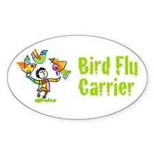 Bird Flu Carrier Oval Decal