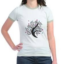 Blue and Purple Modern Dot Tree T