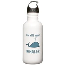 Wild About Whales Sports Water Bottle