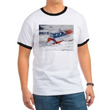 Unique American pride red white blue T