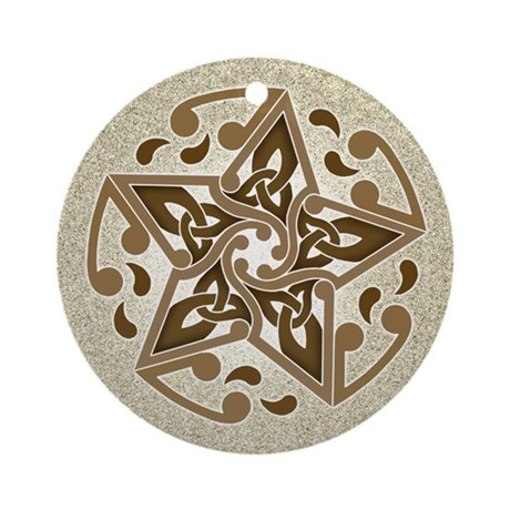 Celtic Star Ornament (Round)