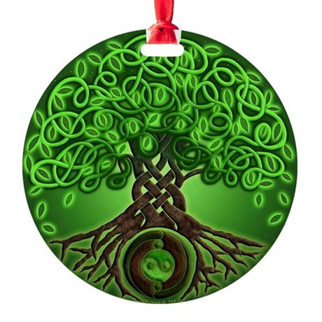 Circle Celtic Tree of Life Round Ornament