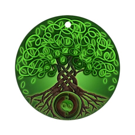 Circle Celtic Tree of Life Ornament (Round)