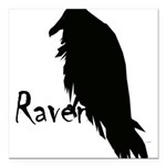 Raven Square Car Magnet 3