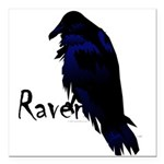 Raven on Raven Square Car Magnet 3
