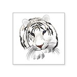 White Tiger Large Poster Square Sticker 3