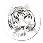 White Tiger Large Poster Round Car Magnet