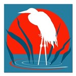 Crane.png Square Car Magnet 3