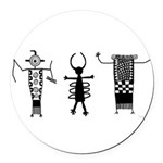 Anthropomorphs II Round Car Magnet