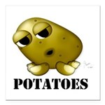 Potatoes Square Car Magnet 3