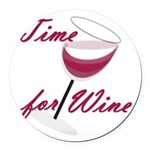 Time for wine Round Car Magnet