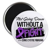 "Not Going Down Cystic Fibrosis 2.25"" Magnet (100 p"