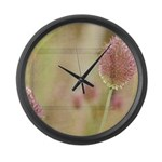Inspired Pink Floral Large Wall Clock