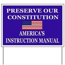 Americas Instruction Manual Yard Sign