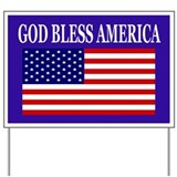 God Bless America yard sign Yard Sign