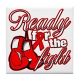 Ready For The Fight AIDS Tile Coaster