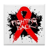 Fighting Back AIDS Tile Coaster
