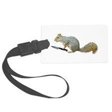 Squirrel with Knife Luggage Tag