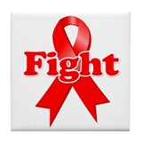 Fight AIDS Tile Coaster