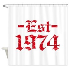 Established in 1974 Shower Curtain