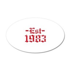 Established in 1983 Wall Decal