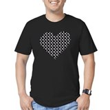Chain mail heart T