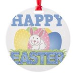 3-happy easter design.png Round Ornament