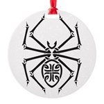 tribal spider design.png Round Ornament