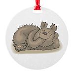 funny little bear copy.jpg Round Ornament