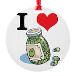 green olives.jpg Round Ornament