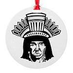 indian head copy.jpg Round Ornament