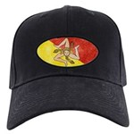 Sicily Flag Black Cap
