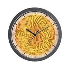 Faux Golden Lines with stripes Wall Clock