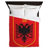 Albania Coat Of Arms Queen Duvet