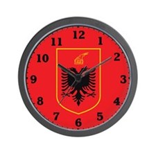 Albania Coat Of Arms Wall Clock