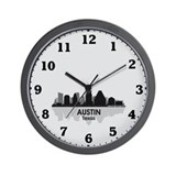 Austin Skyline Wall Clock