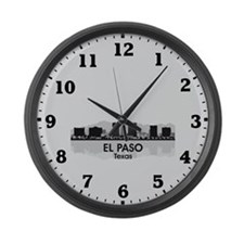 El Paso Skyline Large Wall Clock