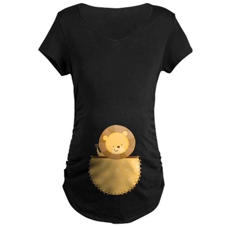 Lion Baby Pregnancy Belly Print Tee